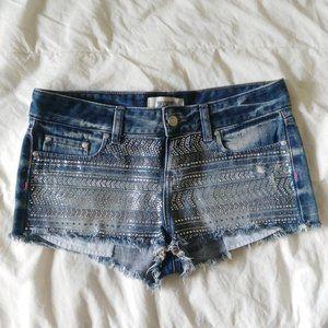 2/$30 - PINK Sparkling Denim Cutoff Shorts